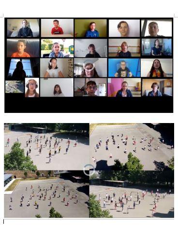 Vidéo du travail réalisé par les élèves de 6ème du collège en Education Musicale et EPS. Bravo !